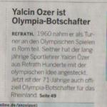 Zeitungsbericht Olympiabotschafter OSP